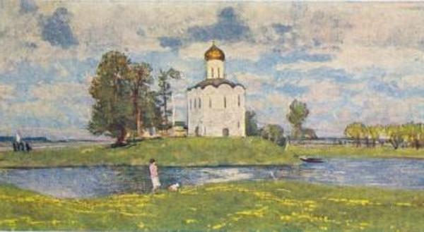 Сравнение картин С. Герасимова «Церковь Покрова на Нерли» и С. Баулина «Храм Покрова на Нерли»